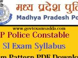 Rpsc Admit Card Name Wise Mp Police Constable Syllabus 2020 Mppeb Police Exam Pattern