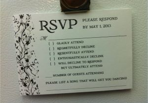 Rsvp Card Wording for Wedding Funny Rsvp Card Love the song Idea Rsvp Wedding Cards