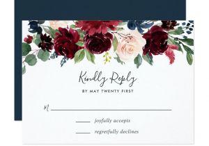 Rsvp Card Wording for Wedding Radiant Bloom Rsvp Card Zazzle Com with Images Rsvp
