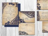 Rsvp Meaning In Marriage Card Printable Lace Elegant Wedding Invitations Bellevue Suite