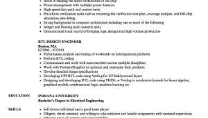 Rtl Design Engineer Resume Rtl Design Engineer Resume Samples Velvet Jobs