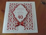 Ruby Anniversary Card for Husband Ruby Wedding Using Sue Wilson Dies Wedding Anniversary