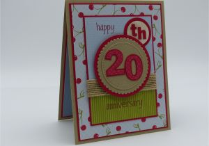 Ruby Anniversary Card for Husband Stampin Up 20th Wedding Anniversary Card for Husband with