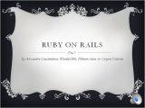 Ruby On Rails Templates Ruby On Rails Presentation Coursework Authorstream