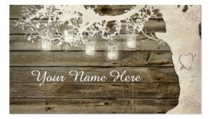 Rustic Business Card Template Free Mason Jar String Lights Rustic Tree Place Card Business