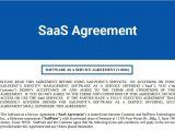 Saas Contract Template Saas Agreement Termsfeed