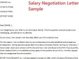Salary Negotiation Email Template Salary Negotiation Letter Sample