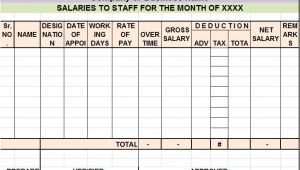 Salary Summary Template Salary Sheet Report Template Free Report Templates