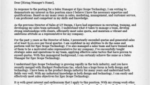 Sale Manager Cover Letter Salesperson Marketing Cover Letters Resume Genius