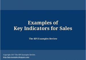 Sales Key Performance Indicators Template Examples Of Key Indicators for Sales Key Performance