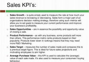 Sales Key Performance Indicators Template Key Performance Indicators You Should Know