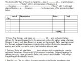 Sales Of Goods Contract Template 20 Contract Templates