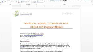 Salesforce Proposal Template Generate Customized Proposals From Salesforce Webmerge
