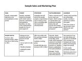 Salesperson Business Plan Template Free Sales Plan Templates Free Printables Word Excel