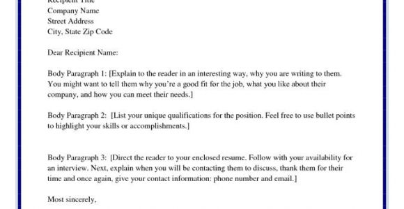 Salutation for Cover Letter with Unknown Recipient Salutations for Cover Letters Resume Badak