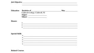 Sample Blank Resume forms to Print Free Printable Blank Resume forms Career Termplate Builder