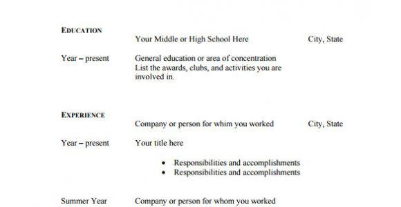 Sample Blank Resume Pdf 46 Blank Resume Templates Doc Pdf Free Premium