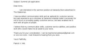 Sample Cover Letter for A Job that is Not Advertised Sample Cover Letter for A Job Not Advertised