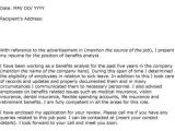 Sample Cover Letter for A Job that is Not Advertised Sample Cover Letter for A Job that Has Not Been Advertised