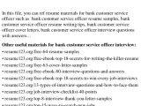 Sample Cover Letter for Customer Service Officer Cover Letter for Customer Service Officer