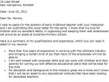 Sample Cover Letter for Early Childhood Educator Essay About National Service Scheme Washington Writing