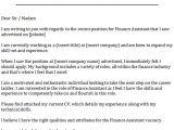 Sample Cover Letter for Finance assistant Position Finance assistant Cover Letter Example Icover org Uk