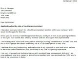 Sample Cover Letter for Health Care assistant Covering Letter for Health Care assistant Letter Of