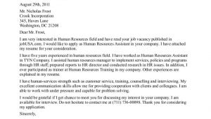 Sample Cover Letter for Hr Internship Human Resources Internship Cover Letter the Letter Sample