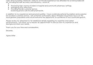 Sample Cover Letter for Pharmacy Technician Job Pharmacy Technician Cover Letter Template Cover Letter