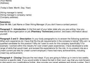 Sample Cover Letter for Pharmacy Technician Job Pharmacy Technician Letter format Samplebusinessresume
