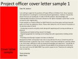 Sample Cover Letter for Project Officer Project Officer Cover Letter