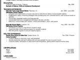 Sample Education Resume Education Resume Sample Career Center Csuf