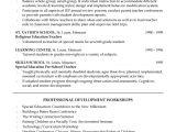 Sample Education Resume Special Education Teaching Resume Example
