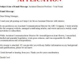 Sample Email for Job Application with Resume Business Letter Example