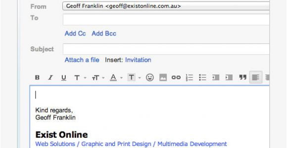 Sample Email Signature Templates Gmail Signature Template Template Business