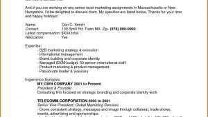 Sample Email to Send Resume to Recruiter 5 How to Write A Mail to Recruiter Sample Lease Template