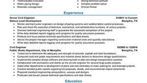 Sample Engineering Resume Best Civil Engineer Resume Example Livecareer