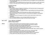 Sample Federal Budget Analyst Resume Budget Analyst Resume Samples Velvet Jobs