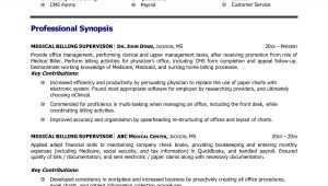 Sample Medical Billing Resume Templates Medical Billing and Coding Resume Example