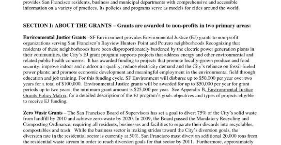Sample Non Profit Grant Proposal Templates 10 Best Images Of Non Profit Proposal Template Non