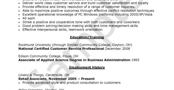 Sample Objectives In Resume for Call Center Agent Call Center Resume Example Resume Sample Sample Cover