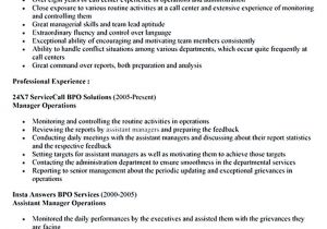 Sample Objectives In Resume for Call Center Agent Call Center Resume for Professional with Relevant