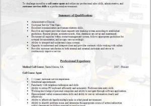 Sample Objectives In Resume for Call Center Agent Call Center Sample Resume Best Professional Resumes