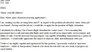 Sample Of Cover Letter for Flight attendant Position Flight attendant Cover Letter Sample Lettercv Com