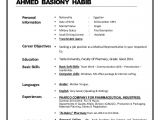 Sample Of Personal Information In Resume Dr Ahmed Habib Resume