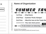 Sample Of Raffle Tickets Templates Reverse Raffle Ticket Template Ourclipart