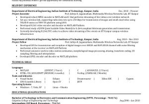 Sample Of Resume for Electrical Engineer 6 Electrical Engineering Resume Templates Pdf Doc