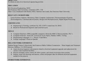 Sample Of Resume for Electrical Engineer 8 Sample Engineering Resumes Sample Templates