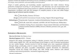 Sample Of Resume for Electrical Engineer Electrical Engineer Resume Sample Monster Com