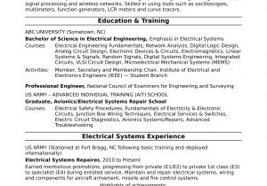 Sample Of Resume for Electrical Engineer Sample Resume for A Midlevel Electrical Engineer Monster Com